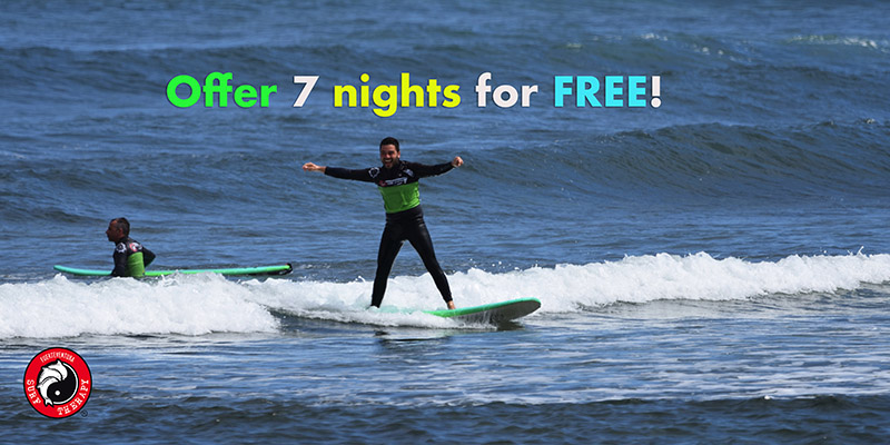 We have extended the offer Surf Camp 7 nights for free until July 31, 2021.